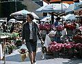 Fény utcai piac, virágárusok a Retek utcai oldalon. Fortepan 70162.jpg
