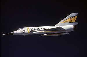 Interceptor aircraft - F-106, a principal interceptor of the U.S. Air Force in the 1960s, 70s, and 80s.