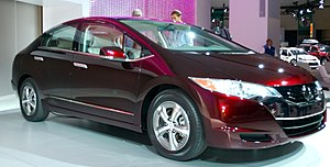 Hydrogen vehicle - Honda FCX Clarity, a hydrogen fuel cell demonstration vehicle introduced in 2008