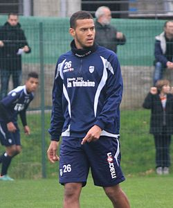 FC Lorient - january 3rd 2013 training - Rémi Mulumba 2.JPG