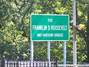 Mid-Hudson Bridge - Image: FDR MHB sign