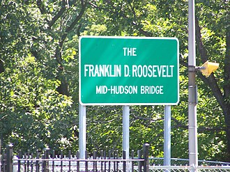 Mid-Hudson Bridge - Image: FDR MHB sign