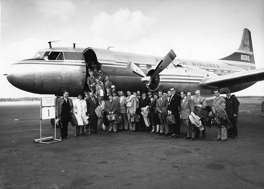 FIN Finnair inauguration flight 1954