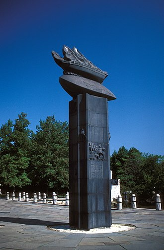 Wilmington, Delaware - Fort Christina monument, location of the first Swedish settlement in North America and the principal settlement of the New Sweden colony.