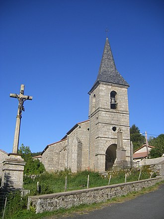 La Besseyre-Saint-Mary - The church in La Besseyre