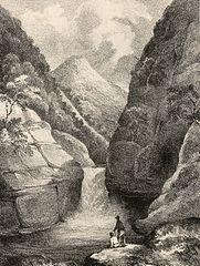 Falls of the Rheidiol: near Pont-ar-Fynach, Cardiganshire