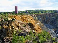 "Historische Industrielandschaft ""Großer Kupferberg"" in Falun"