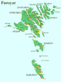 Faroe map with streets and villages.png