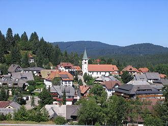 Feldberg, Baden-Württemberg - Center of the town in August 2015