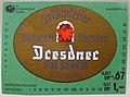 Felsenkeller Brauerei Dresden, Dresdner Pilsner Etikett (DDR).jpg