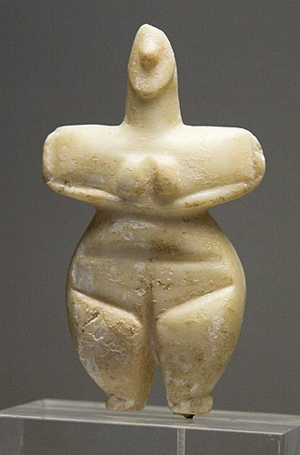 Sesklo - Female figurine, marble, Thessaly, 5300-3300 BC
