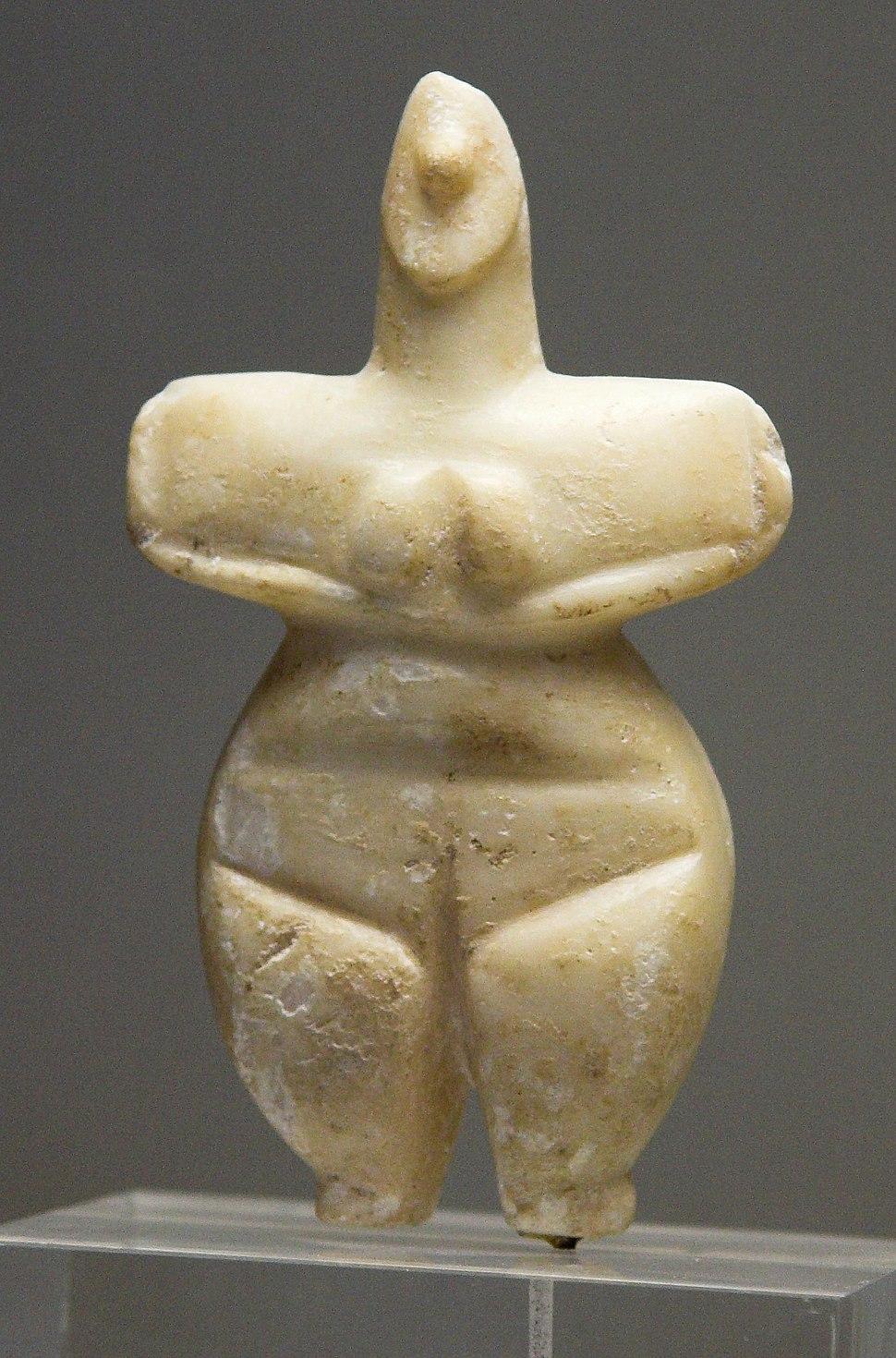 Female figurine marble Thessaly 5300-3300 BC, NAMA 8772 080802x