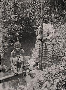 Femmes Betsimisarakas puisant de l