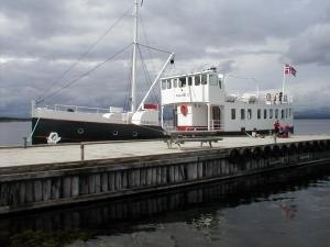 Engerdal - The old steamship seen at the harbour