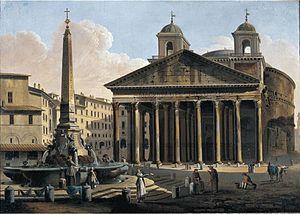 Ferdinando Partini - 'View of the Pantheon' , oil, 1794, Metropolitan Museum of Art