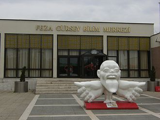Feza Gürsey Science Center - Feza Gürsey Science Center in Ankara, Turkey (The sculpture represents the relative importance of body parts in human brain)
