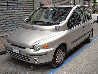 Fiat Multipla - Image: Fiat Multipla silver front