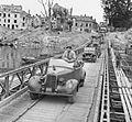 Field Marshal Montgomery stands up in his Humber staff car as he crosses the River Seine at Vernon, 1 September 1944. BU552.jpg