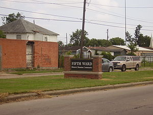 African-American neighborhood - The Fifth Ward, a predominantly African American neighborhood in Houston, Texas