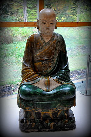 Burrell Collection - Figure of a Luohan from the Chenghua period