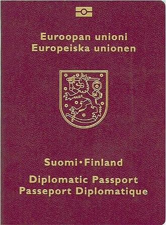 Finnish passport - Image: Finlanddippassport