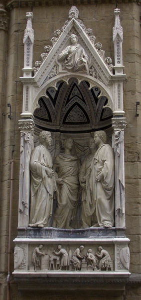 Nanni di Banco (ca 1384-1421): De fire kronede martyrer, kirken Orsanmichele i Firenze (ca 1415)