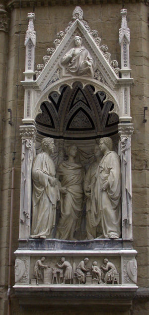 Four Crowned Martyrs - The Four Crowned Saints, Nanni di Banco, Orsanmichele, Florence, ca. 1415.