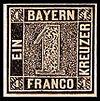 First Bavaria postage stamp 1k 1849 issue.jpg