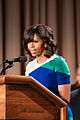 First Lady Michelle Obama thanks U.S. Department of Agriculture (USDA) employees for their service and dedication at the Jefferson Auditorium, USDA on Friday, May 3, 2013 (Pic 2).jpg