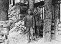 First World War, men, uniform, walking cane, woods, medal Fortepan 25064.jpg