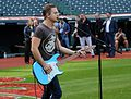 Five-time Grammy nominee Hunter Hayes performs his national anthem soundcheck, hours before Game 6 of the World Series. (30716241645).jpg