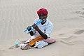 Flöthenspieler in der Wüste Thar Indien.JPG