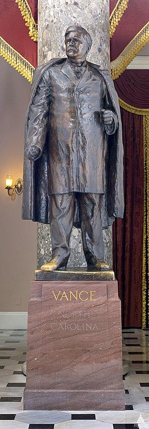Zebulon Baird Vance (sculpture) - The statue in 2011
