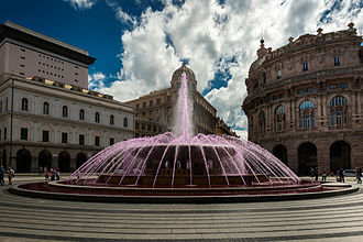 International Day Against Homophobia, Transphobia and Biphobia - Pink fountain in Genoa for IDAHO 2015