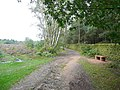 Footpath and seat, St Ives Estate, Harden - geograph.org.uk - 952831.jpg