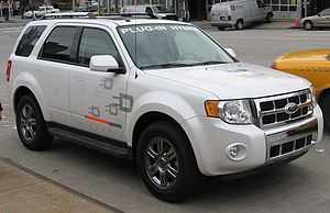 Ford Escape PHEV photographed in New York City...