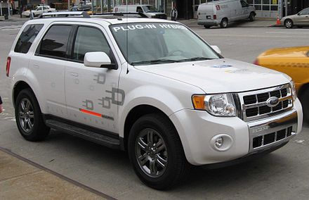 Ford Escape plug-in hybrid test vehicle Ford Escape plug-in hybrid.jpg