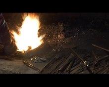 File:Forging a nail. Valašské muzeum v přírodě.webm