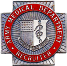 Former US Army Medical Department Recruiter Identification Badge.png