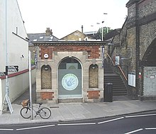 The former booking office, now used by the Barnes ...