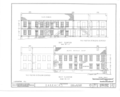 Fort Gibson, Barracks Building, Garrison Avenue, Fort Gibson, Muskogee County, OK HABS OKLA,51-FOGIB,1A- (sheet 3 of 14).png