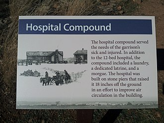Fort Griffin - Image: Fort Griffin hospital marker