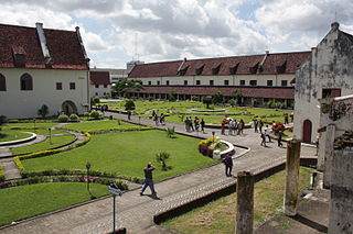 Dutch fort built in Makassar on the island of Sulawesi in Indonesia