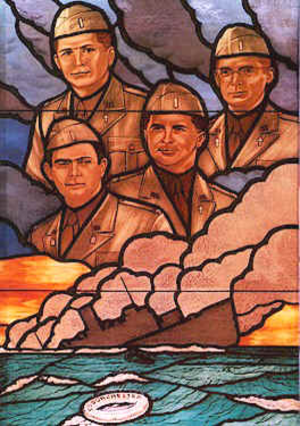 John P. Washington - Image: Four Chaplains glass 1