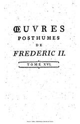 Frédéric II de Prusse: Œuvres posthumes: Correspondance avec Voltaire, tome 5