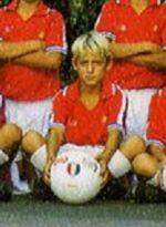Totti all'età di 10 anni con la maglia degli Esordienti B della Lodigiani