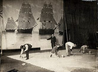 Francis Davis Millet - Millet at work in his studio, circa 1900