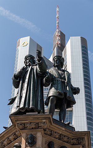 Gutenberg Memorial, Frankfurt am Main, Hesse, Germany