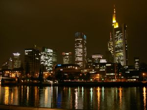 Frankfurt am Main skyline.