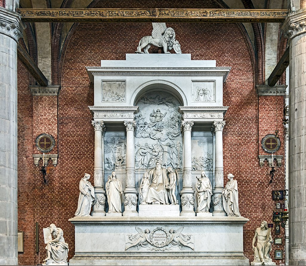Frari (Venice) nave right - Monument of Titian